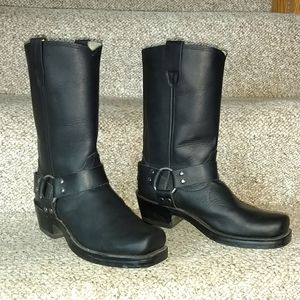 Durango black harness motorcycle riding boots 7
